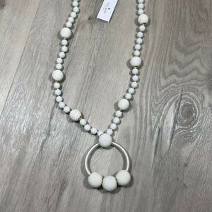 Kate Spade The bead goes on necklace pendant White